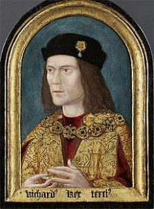 Portrait of Richard III of England, painted c. 1520 (approximate date from tree-rings on panel), after a lost original, for the Paston family, owned by the Society of Antiquaries, London, since 1828. Source: Wikipedia.