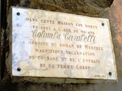 Olmeto - Colomba Carabelli plaque