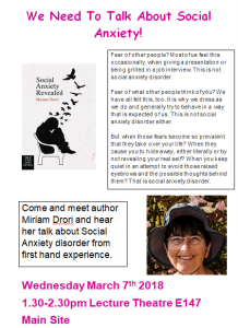 Poster for Talk on Social Anxiety